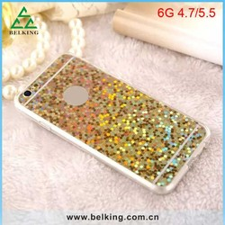 Luxury Bling stars back cover for iPhone 6 glitter phone case