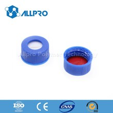 blue screw cap with bonded red PTFE/white silicone septa for 9-425 screw top vial