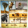 full page Africa the Serengeti animals photo design Polyester bath showers curtains