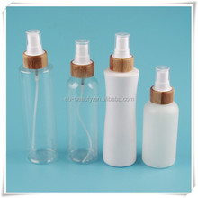 luxury bamboo body mist spray pump with plastic bottle