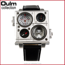 2015 clock wrist watch, oulm square watch, designer clock watch wholesale