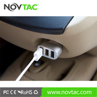 CE RoHS certificate 3 usb port multiple mobile phone car charger