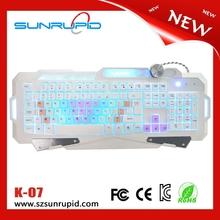 Rainbow Color keys and colorful Backlit Gaming Keyboard usb port