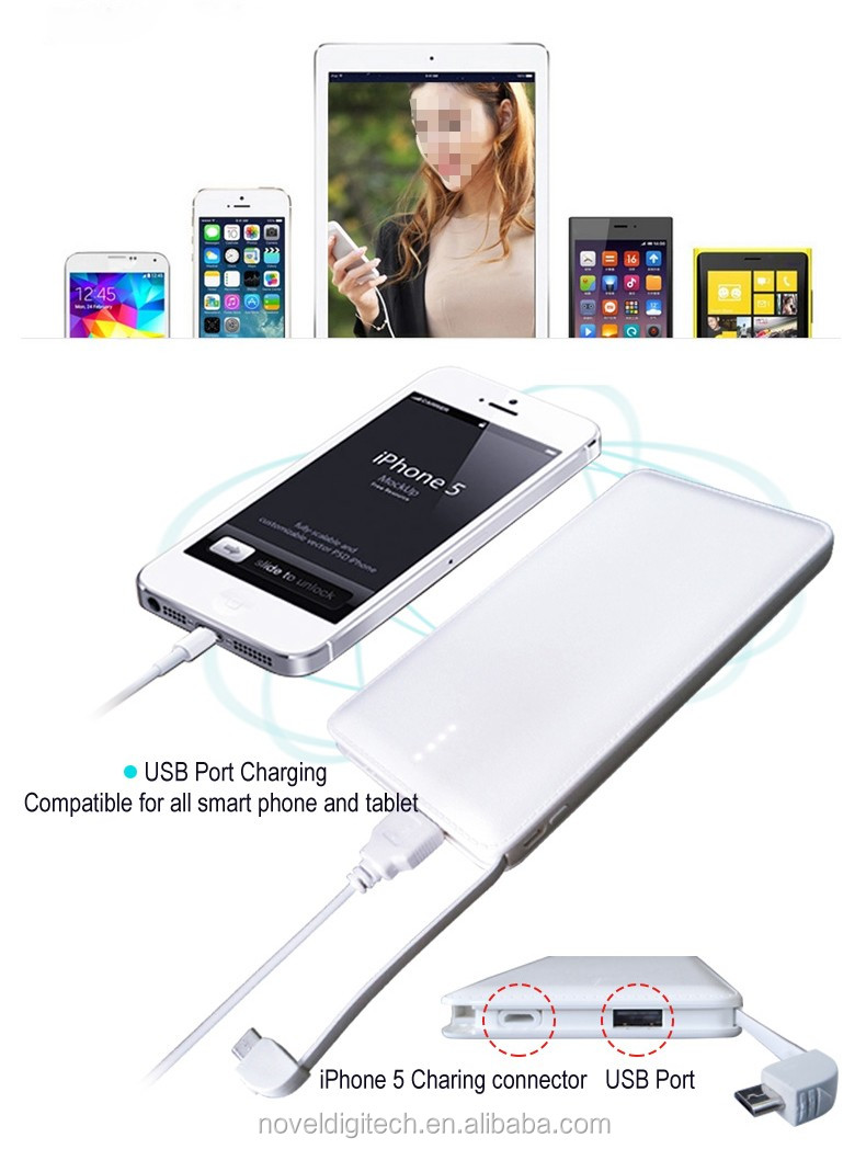 Карманный размер портативный аккумулятор и зарядное устройство банки Питания 10000 МАЧ