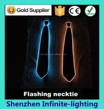 Holiday party el flashing necktie for girls/Newest EL flashing Necktie for dancing party/night club