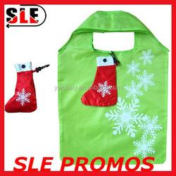 Polyester foldable bag for chrismas