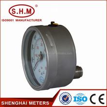 lower mount bourdon tube water pressure gauge