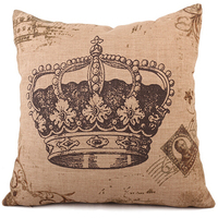 Classical Custom Old Crown Vintage Pillow