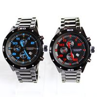 YX8073 Japan Movt Quartz Watch Stainless Steel Chronograph Watches Water Resistant SR626SW