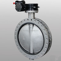 Butterfly valve wafer type with pin, top flange, light in weight