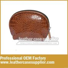 china supplier OEM new style Half moon croc cosmetic bag