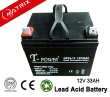 AGM two wheeler battery 12v 33ah with ABS cover