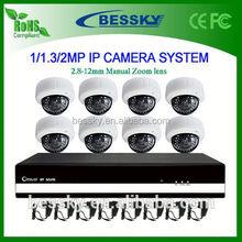 8CH IP camera NVR Kit,office ip camera,4ch p2p nvr