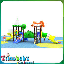Outdoor Park Plastic Slide Kids Play Structure, Used Outdoor Playground Equipment for sale