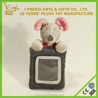 Cartoon plush photo/ picture frame stuffed animal mouse mouse plush toy plush hanging mouse toys