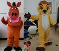 timon & pumba costume for adult pumbaa costume timon & pumba costume for adult