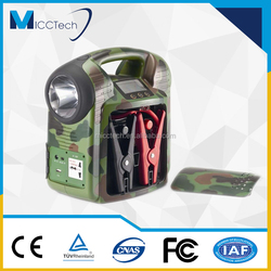 Multifunctional Portable Solar Power Generator & Hand Crank Generator, Portable Emergency Power Supply, Car Jump Starter