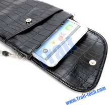 Universal tablet portable Leather Bag ,Crocodile Texture laptop bag