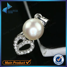 Top quality fashionable pearl ring in silver jewelry