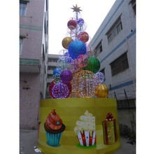 outdoor LED Christmas ball tree decoration