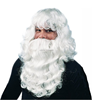 2015 Christmas white long wavy wig and beard, white santa wig and beard