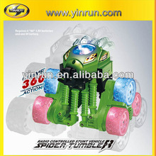 yinrun new product spider tumbler plastic car battery powered electric toy car