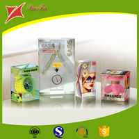2015 new design cosmetic packing clear carton