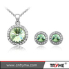 Bling bling diamond austria crystal cheap necklace and earring sets