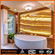 PFM Chinese xiamen luxury onyx alabaster orange marble