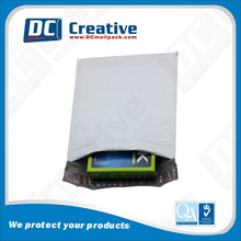 white and grey poly mailer / Poly LDPE courier bag double type