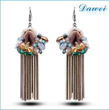 Statement Colorful Tassel Jewelry Factory Sale Trendy Earrings 2015 Summer New Design