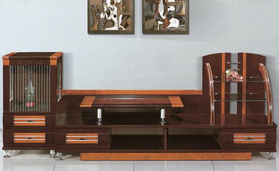 Livingroom furniture wooden led tv stand new model corner - Table de tv led ...