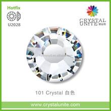 U2028 CRYSTAL UNITE clear flat back hotfix glass stone