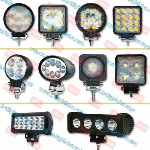 Полная серия CREE Epistar светодиодные фары рабочего света,светодиодная фара рабочего света