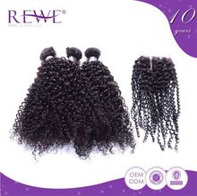 General Natural And Beautiful Human Spiral Kinky Curl Expression Hair Extension Weaving