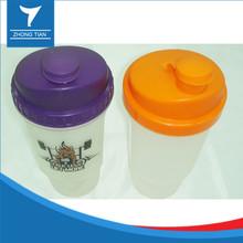 High quality plastic protein powder shake cup custom logo shaker bottle