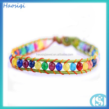 cheap handmade fancy jade bead bracelet rainbow jade jewellery