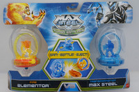 Max Steel Turbo Battlers Fire Elementor vs. Transformation Max Steel 2-Pack