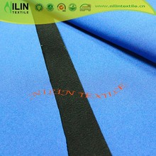 Softshell fleece bonded stretch pongee fabric with Teflon waterproof finishing