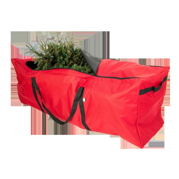 Heavy Duty Arbre De Noël Sac De Rangement À Glissière Fit jusqu'à 9 Foot Artificielle Arbre de Vacances Rouge