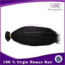 2015 Hot Sale Virgin Unprocessed Brazilian Perm Yaki Human Hair Braiding Hair