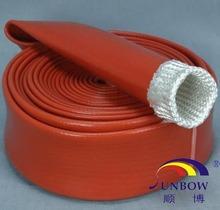 500 degree high temperature protective silicone rubber fiberglass soft sleeve