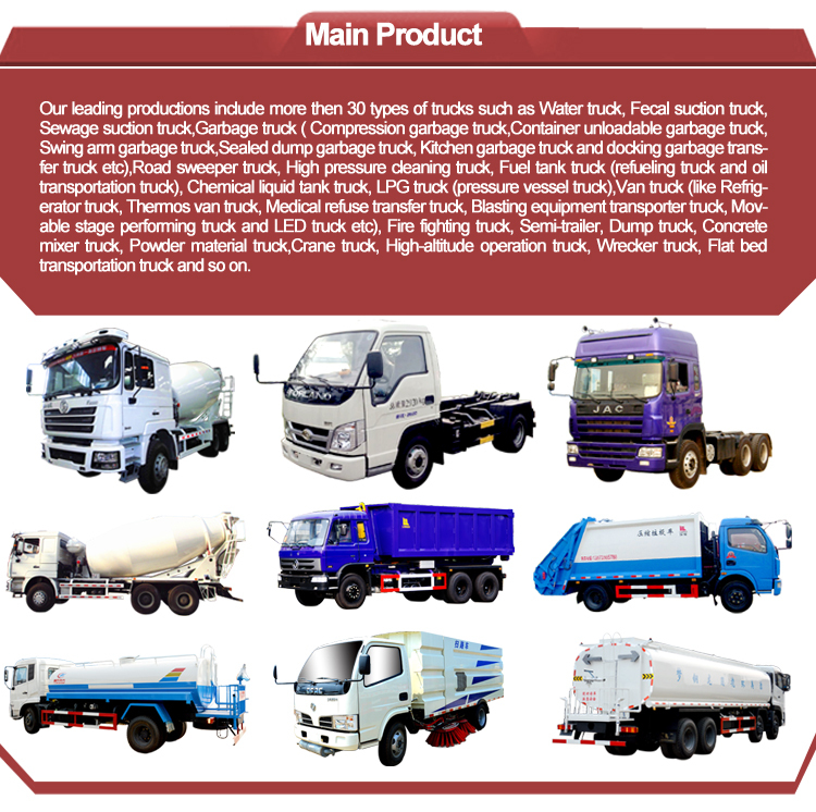 CEEC TRUCKS main products