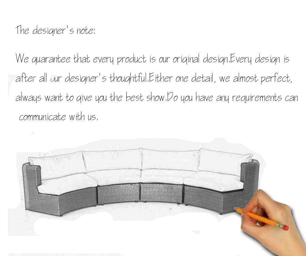 half-round sofa set designs plastic rattan sofa set