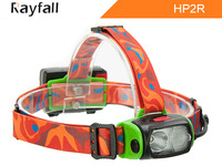 2015 Lastest Rechargeable head torch outdoor head led light water shock resistant