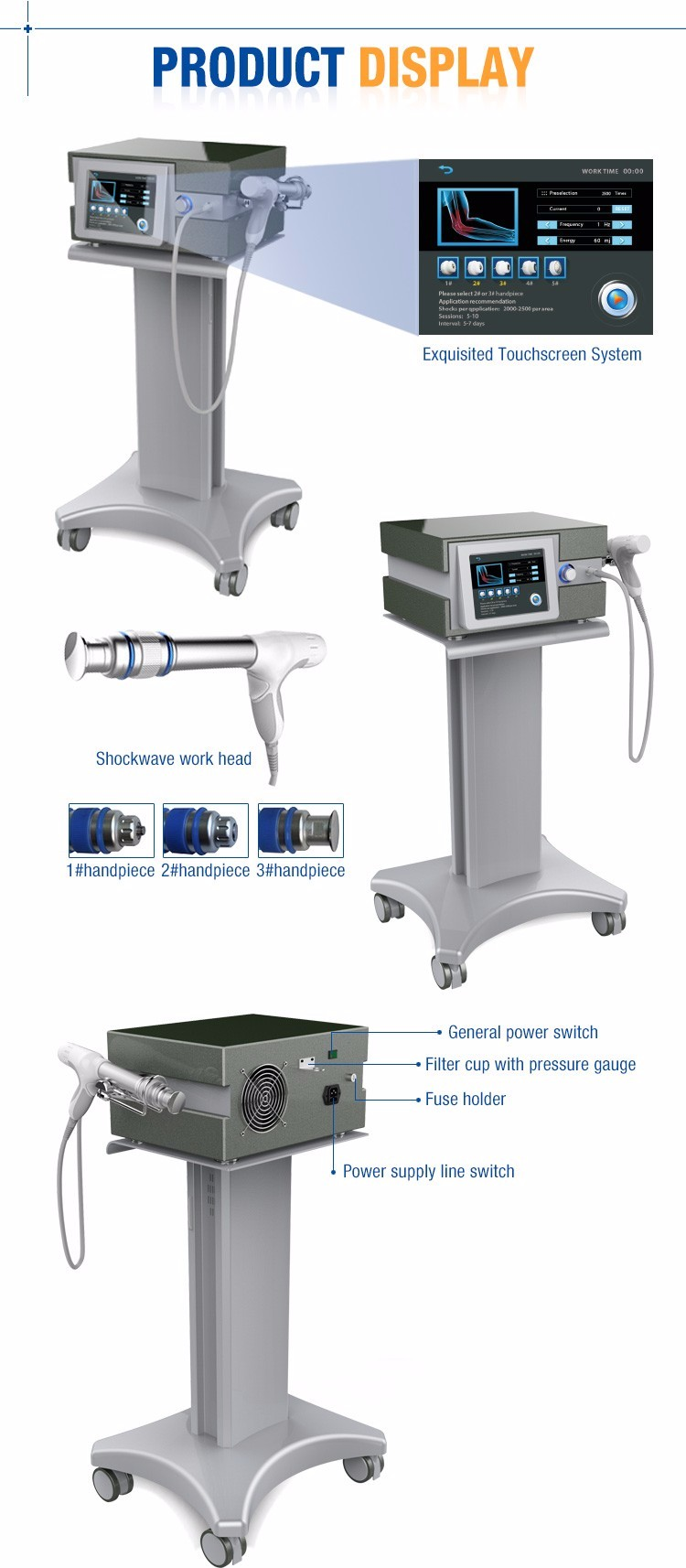 2015zimmer shockwave /equine shock wave therapy/acoustic wave therapy machine