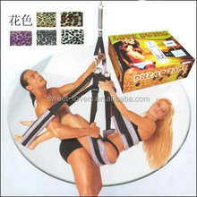 Super passional leather sex swing comfortable easy operation adult sex swing
