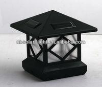 outdoor post cap LED solar lamps