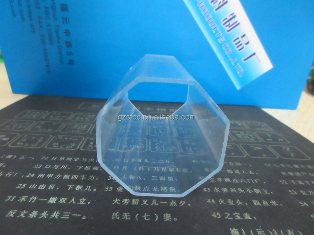 Hard clear tringle square octagonal plastic tube buy