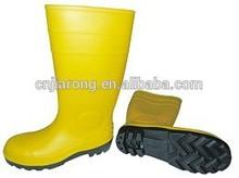 Certificación CE populares botas de lluvia de seguridad minera botas